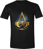 Assassin's Creed: Origins - Hyroglyphics Logo Men T-Shirt - Zwart - Maat XL