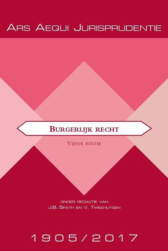Boek cover Ars Aequi Jurisprudentie  -   Jurisprudentie Burgerlijk recht 1905-2017 van