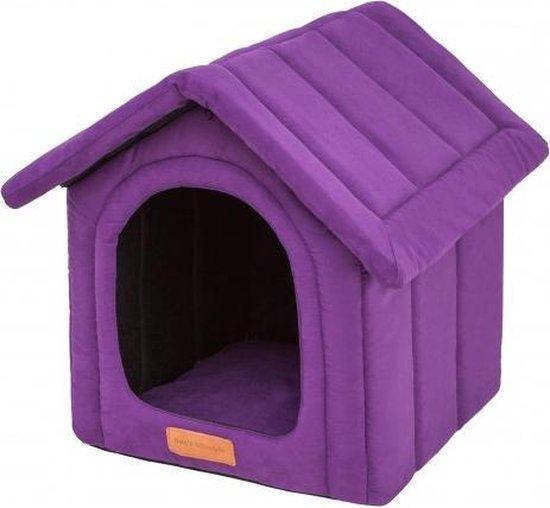Hondenhuisje indira suedine paars