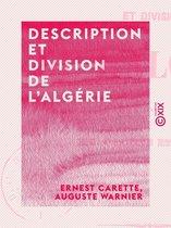 Description et division de l'Algérie