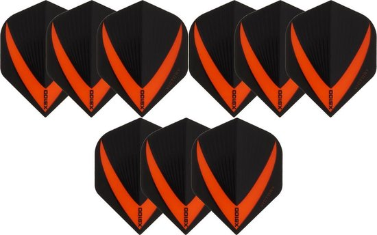 Dragon darts 3 sets (9 stuks) Super Sterke - Oranje - Vista-X - flights - darts flights