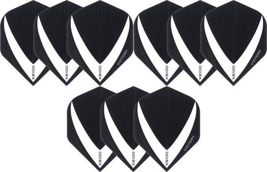 Dragon darts 3 sets (9 stuks) Super Sterke - Wit/Clear - Vista-X - flights - darts flights
