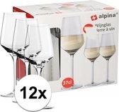 Alpina witte wijnglazen - 12 stuks - 370 ml
