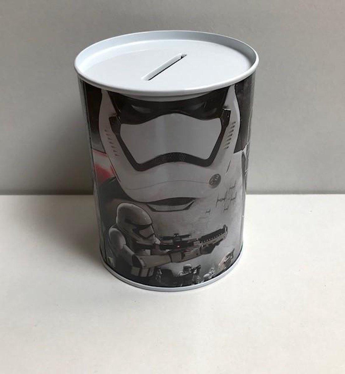 Metalen spaarblik Star Wars grijs 10 x 7,5 cm