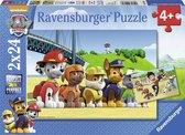 Ravensburger Paw Patrol. Dappere honden- Twee puzzels van 24 stukjes - kinderpuzzel