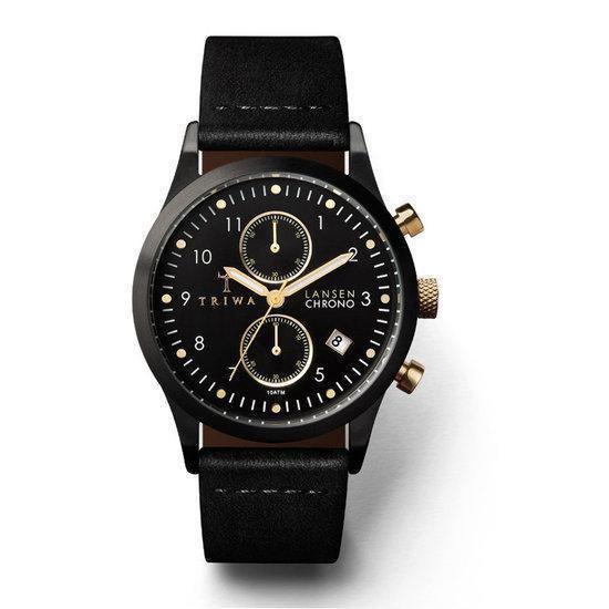 TRIWA Midnight Lansen Chrono LCST108CL – Horloge – Zwart – Ø 36 mm