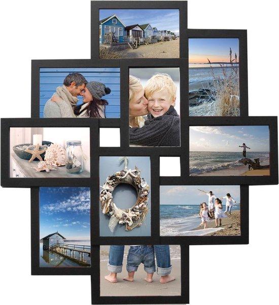 Fotolijst - Henzo - Holiday gallery - Collagelijst voor 10 foto's - Fotomaat 10x15 - Zwart