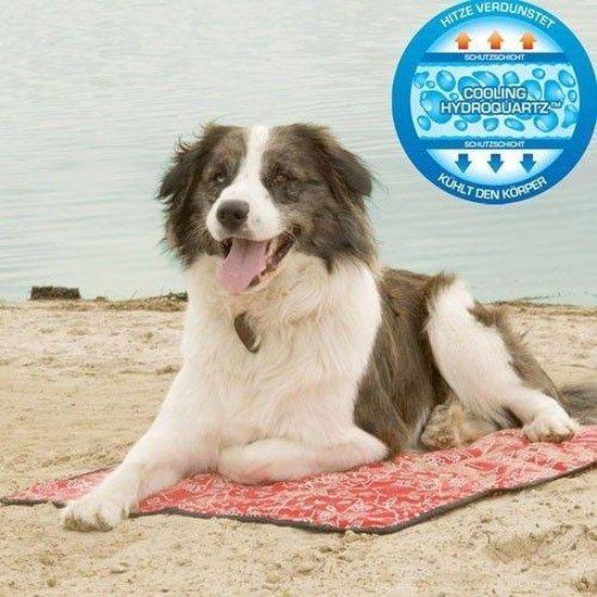 Aqua Coolkeeper Verkoelende Hondenmat 90 x 80 cm - Rood