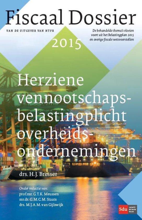 Boek cover Fiscaal Dossier  -   Herziene vennootschapsbelastingplicht overheidsondernemingen van H.J. Bresser (Paperback)