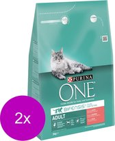 Purina One Adult Zalm&Granen - Kattenvoer - 2 x 3 kg