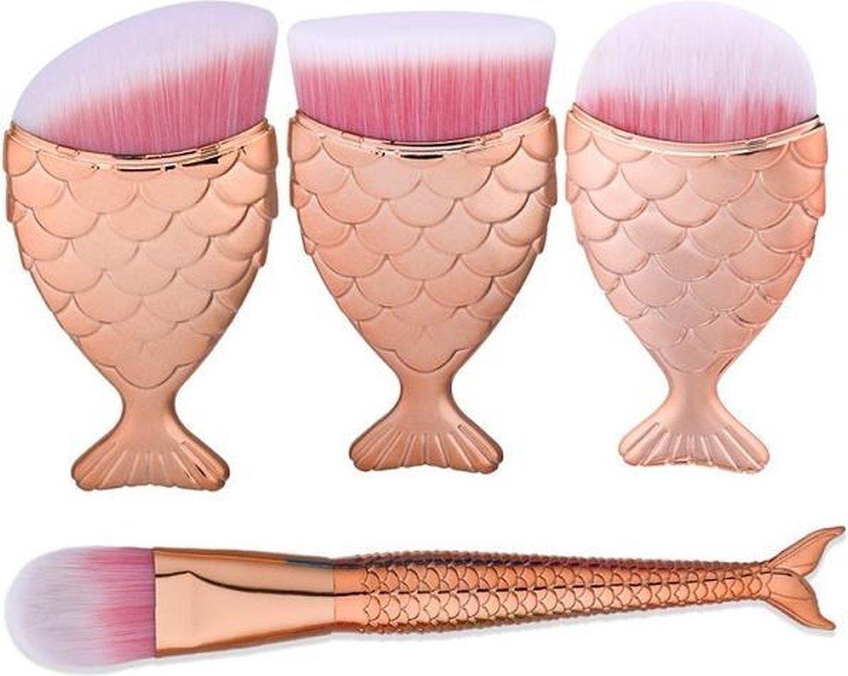 Beau - Fish Tail Brush Set - Gold - BEAUTYINSTYLE
