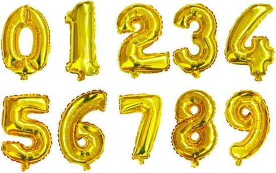 XL Folie Ballon (6) - Helium Ballonnen – Folie ballonen - Verjaardag - Speciale Gelegenheid  -  Feestje – Leeftijd Balonnen – Babyshower – Kinderfeestje - Cijfers - Goud
