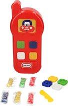 Little Tikes Speelgoed Telefoon Kleiset voor Kinderen inclusief Deegmes, Vormpjes en Klei – Vanaf 3 Jaar – Rood – 35 x 19 x 9 cm   Speeltelefoon   Speel Smartphone   Play Phone Dough Set