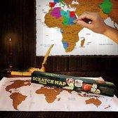 MikaMax - Scratch Map - Kras Wereldkaart - Groot