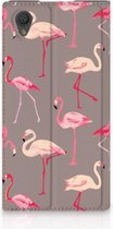 Standcase Hoesje Sony Xperia L1 Flamingo
