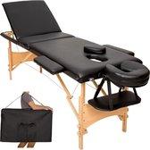 3 zones mobiele massagetafel- Bekleding 3 cm + draagtas zwart