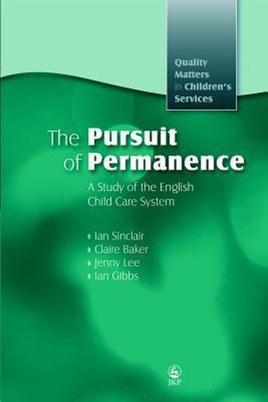 Omslag van The Pursuit of Permanence