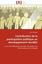 Contribution de la Participation Publique Au D�veloppement Durable