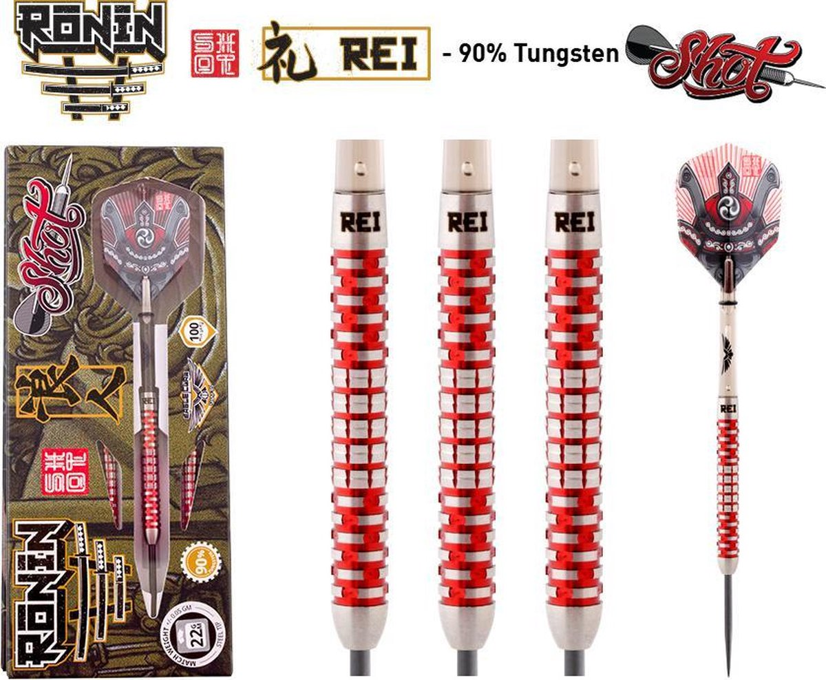 Shot Ronin Rei 1 90% 22 gram Centre-Weight Steeltip Darts