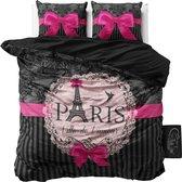 Sleeptime I Love Paris - Dekbedovertrekset - Tweepersoons - 200x200/220 cm + 2 kussenslopen 60x70 cm - Roze