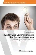 Hurden und Loesungsansatze der Energieeinsparung