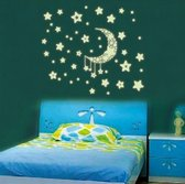 Glow in the dark stickers voor kinderkamer met sterren en maan