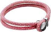 Zinzi roggenleren armband roze 20cm ZIA846R