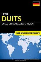 Leer Duits: Snel / Gemakkelijk / Efficiënt: 2000 Belangrijkste Woorden