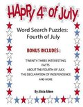 Word Search Puzzles: Fourth Of July: Word Search Puzzles