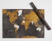 Maps International Wereldkaart Kras De Wereld