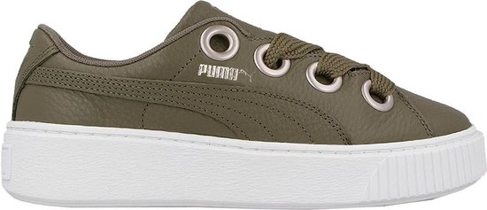 Puma Sneakers Platform Kiss Lea Dames Groen Maat 37,5