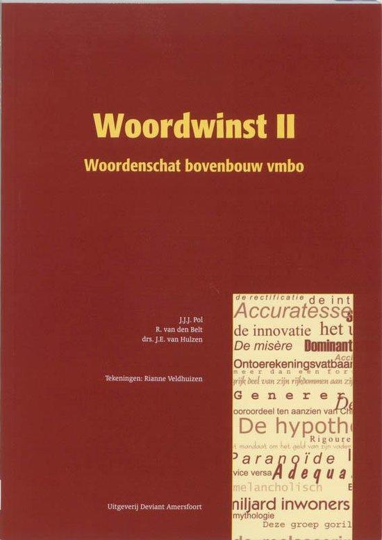 Boek cover Woordwinst II van J.J.J. Pol