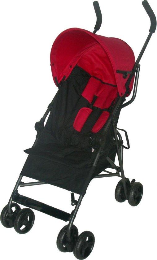 Bebies First Buggy - Plooibuggy - Lichtgewicht - Multi Standen - Comfortabele Rugleuning - Zwart/Rood - Bebies First