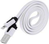 Lightning Kabel Datacable 2 meter voor Apple Wit White