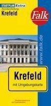 Falk Stadtplan Extra Standardfaltung Krefeld 1:17 000