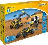 Twickto bouwset - speelvoertuig - voertuigen - Woestijn - De maan - 338 delig - geel en grijs