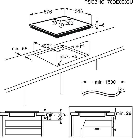 AEG IKB64301XB - Inductie Kookplaat