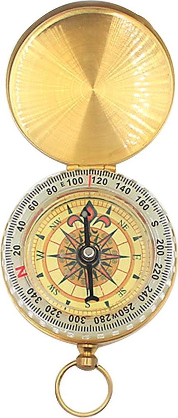 Luxe kompas van messing - Glow in the dark - Lichtgevend