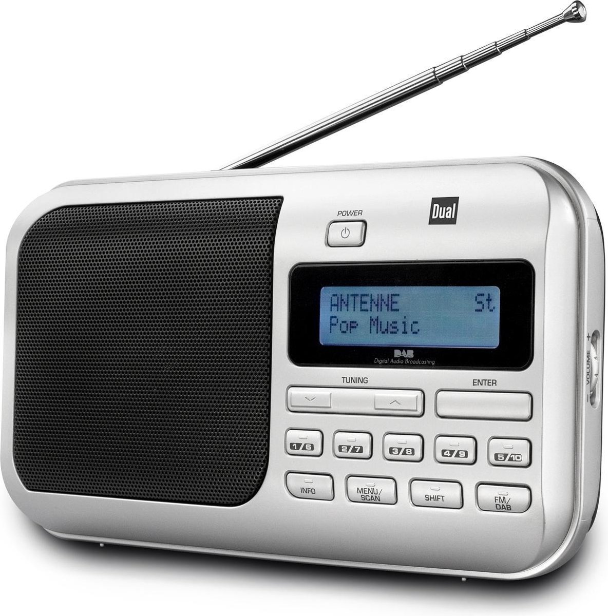Dual DAB 4 Internet Digitaal Zwart, Zilver radio