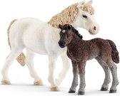 Schleich Pony en veulen 42423 - Paard Speelfiguur - Farm World - 8,9 x 5,6 x 13,7 cm