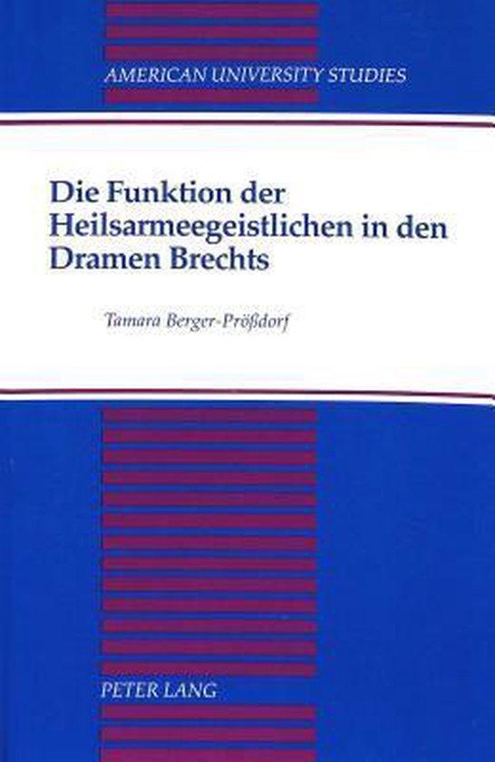 Die Funktion der Heilsarmeegeistlichen in den Dramen Brechts