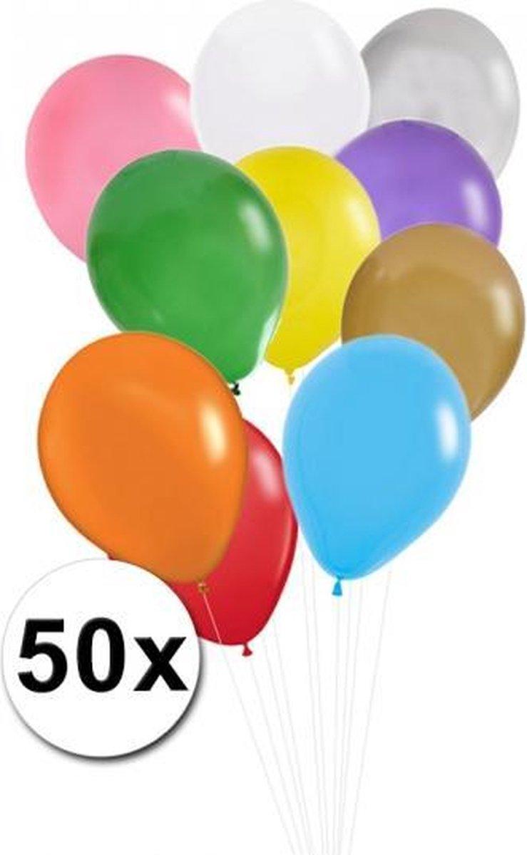 Gekleurde ballonnen 50 stuks - Shoppartners