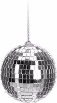 Kerst discobal zilver 6 cm - kerstbal