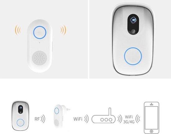 Smart deurbel via Wifi op uw mobiel en met binnen ontvanger met verschillende melodieën