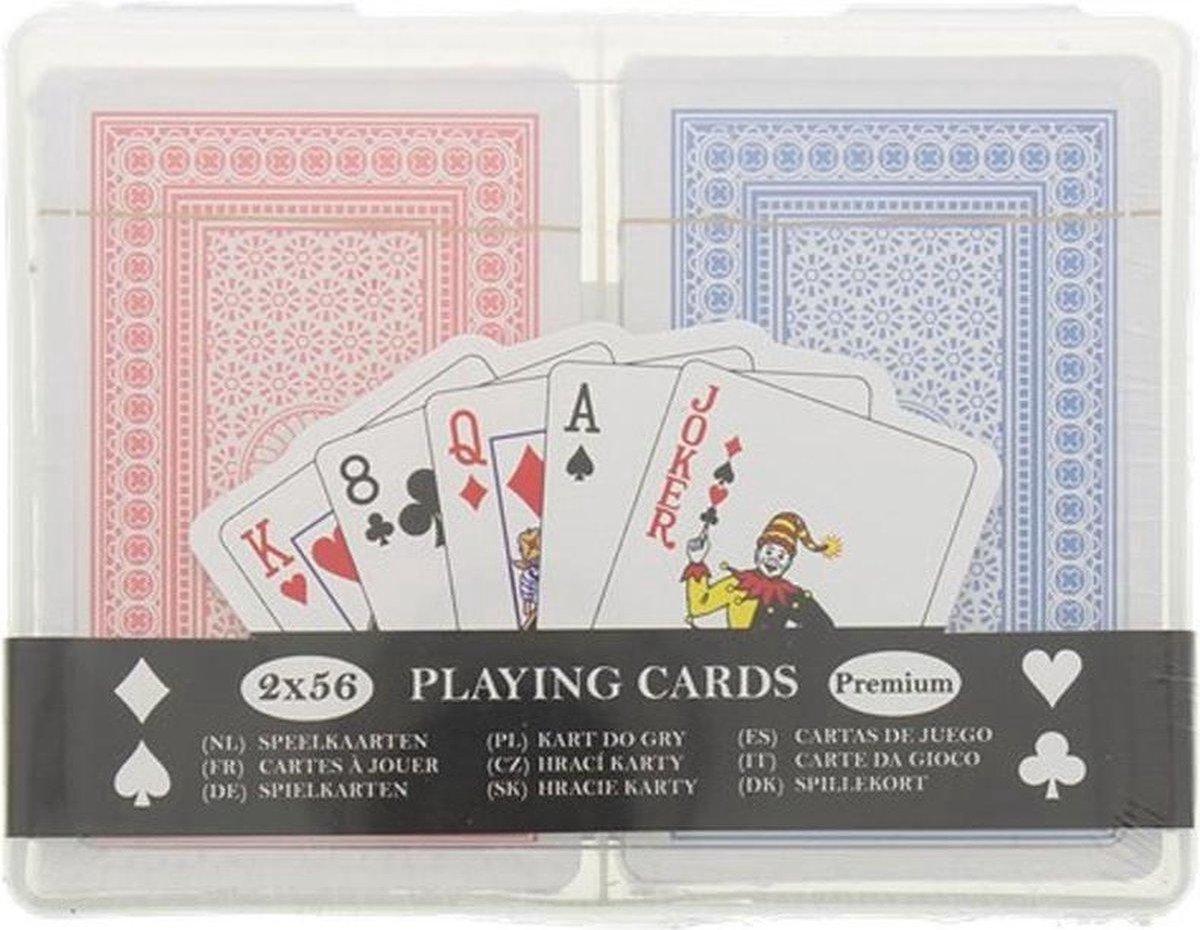 Creartix - Luxe Speelkaarten 2 Decks - Spelkaarten - Kaarten voor Klaverjassen, Hartenjagen, Pokeren, Blackjack en meer kaartspellen - 2 x 56 kaarten