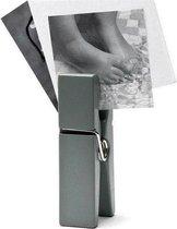 Duraline kaartenhouder fotohouder fotostandaard megaknijper kaartenstandaard knijper kleur grijs