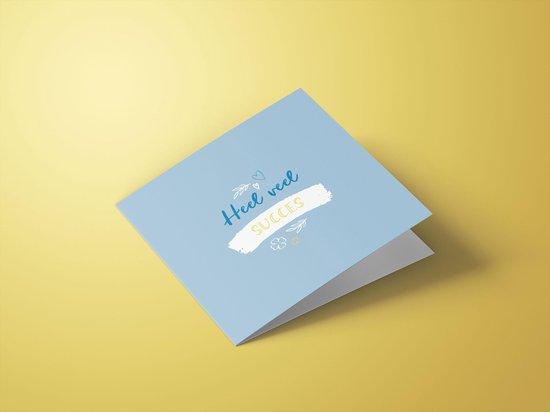 Wenskaarten bedankt/succes/geluk - set van 6 dubbele kaarten - inclusief enveloppen