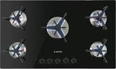 Klarstein Trifecta 5 gaskookplaat 5-pits triangel-pit glaskeramiek zwart