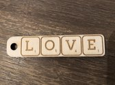 SLEUTELHANGER | LOVE | SCRABBLE LETTERS | 8CM