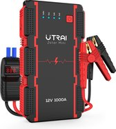 Utrai Jumpstarter Alles-in-1 - Met Smart Startkabels - 1000A piek - 12V - Starthulp - Startbooster -